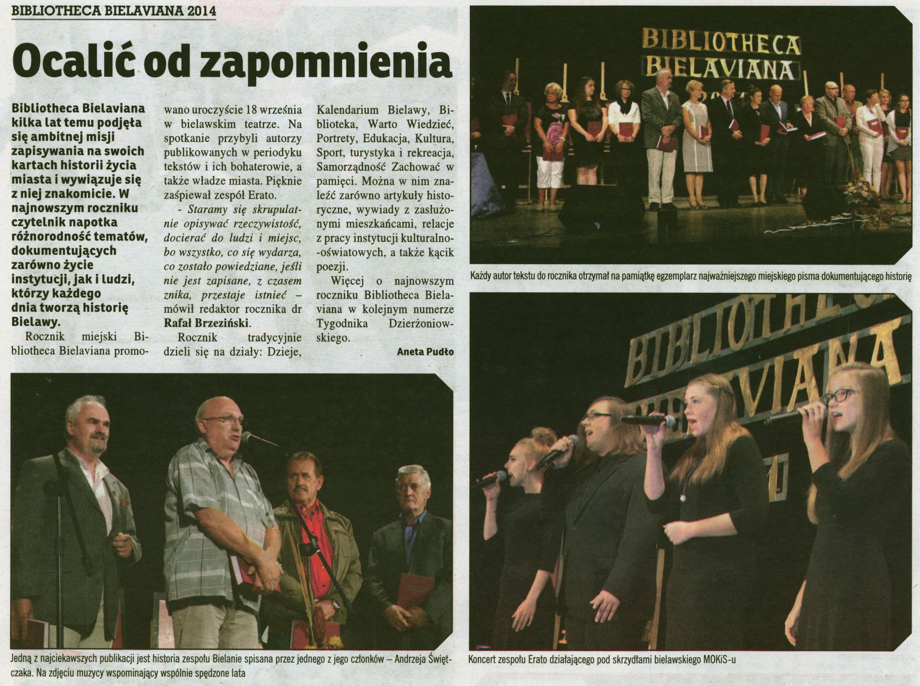 Promocja Bibliotheca Bielaviana 2014 Bielawa (1)